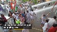 Kerala gold smuggling case Police use water cannon on Youth Congress protesters.mp4
