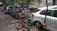Watch Wall collapses in Delhi s Saket following heavy rainfall, several vehicles damaged.mp4