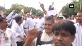 Congress workers protest against Subramanian Swamy for alleging Rahul Gandhi of taking cocaine