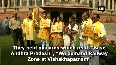 TDP MPs continue their protest against the Centre in Parliament
