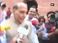 Whoever wants to speak in Parliament can speak Rajnath