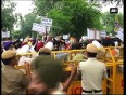 Sad stage protest against rss s hindu nation remark