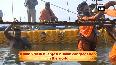 Kumbh Mela Mauni Baba performs special pooja at Sangam Ghat in Prayagraj