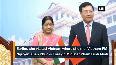 EAM Swaraj arrives in Cambodia