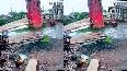 Watch: Overhead water tank collapses within seconds in Gujarat