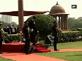 Australian Defence Minister receives guard of honour in New Delhi