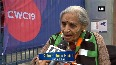 CWC Filled with enthusiasm, 87-year-old woman cheer for team India