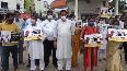 Tripura Congress protest in Agartala against fuel price hike