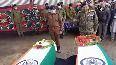 Wreath laying ceremony of councillor and cop, killed in Sopore terror attack, performed