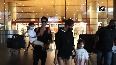 Shahid Kapoor spotted with wife Mira kids at Mumbai Airport