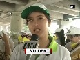 School students call for environment conservation on Earth Day