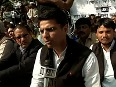 National Herald hearing Sachin Pilot protests with Congress workers in Jaipur