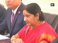 Sushma Swaraj meets Palestinian Foreign Minister