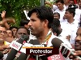 Congress protest against CM Naveen Patnaik over rising unemployment in Odisha