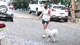 Bollywood divas take their pet dogs out for a walk