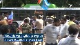 JEE (Mains) exam fraud NSUI holds protest outside Education Ministers residence
