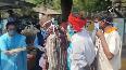 Coronavirus pandemic Cops distribute food, face masks to help needy amid lockdown in Bilaspur