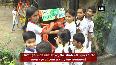 Students in Moradabad tie rakhis to trees