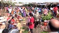 People flout social distancing norms at vegetable market in Hyderabad