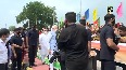 Watch: PM Modi greets supporters waiting near Palam Airport