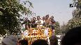 Delhi polls RJD leader Tejashwi Yadav holds roadshow in Delhi.