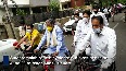 Former K taka CM Siddaramaiah rides bicycle in Bengaluru to protest against fuel price hike.mp4