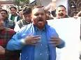 MCD workers protest outside Kapil Mishra s residence