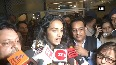 'Golden Girl' Sindhu receives grand welcome at Delhi Airport