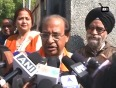 Delhi assembly polls bjp leaders cast their vote