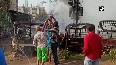 Massive fire breaks out outside Police Station in Patna