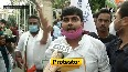 Hathras gang-rape case Youth Congress workers stage protest outside Raj Bhavan.mp4