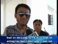 Specially abled ankit appears for cs exam