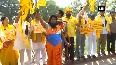 AP special status row Dressed as 'Parashurama', TDP MP protests outside Parliament