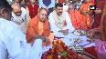 Watch  Yogi Adityanath offers prayers in Naimisaranyam temple