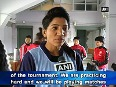 In a first, Nepali women's hockey team practices at Hockey Astro Turf in Imphal