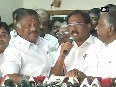 Setback to Sasikala as education minister K Pandiarajan extends support to Panneerselvam
