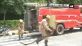 Watch CISF vehicle catches fire at Delhis Shantipath