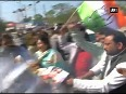 Bhopal Congress protests against HRD Minister