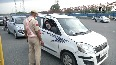 COVID-19 Cops check vehicles at Delhi-Gurugram border amid lockdown