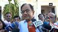Chidambaram casts his vote in Tamil Nadu's Sivaganga