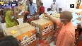 UP CM Yogi inspects flood-affected areas, distributes relief materials in Bahraich