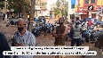 People stand in queue outside chicken shop in Karnataka s Hubli amid lockdown