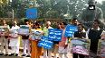 Mekedatu project Karnataka MPs stage protest outside Parliament