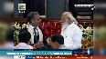 PM Modi interacts with IPU President Duarte Pacheco at Parliament s Central Hall