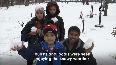 Snowfall cheers tourists in Srinagar