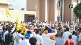 Lok Insaaf Party workers attempt to encircle Punjab CMs residence, police baton charge.mp4
