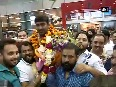 ISSF World Cup Gold medal winner Ankur Mittal receives grand welcome