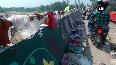 Bridge littered with puja materials, plastic waste in Delhi