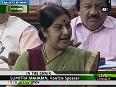 Did no wrong says Sushma Swaraj amid constant Congress chants Part - 2
