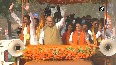 WB polls Amit Shah holds massive roadshow in WB s Islampur